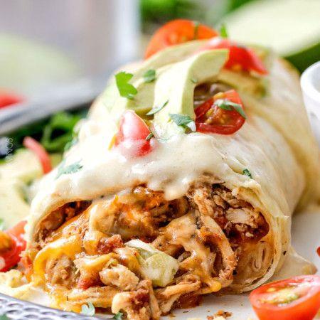 Burritos poulet cuit au four étouffés