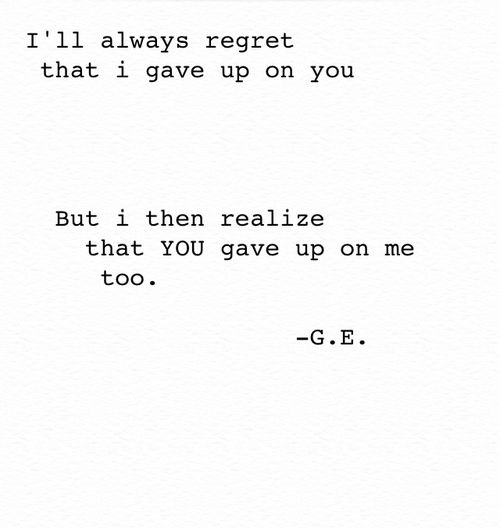 You Gave Up Quotes: 17 Best Ideas About You Gave Up On Pinterest