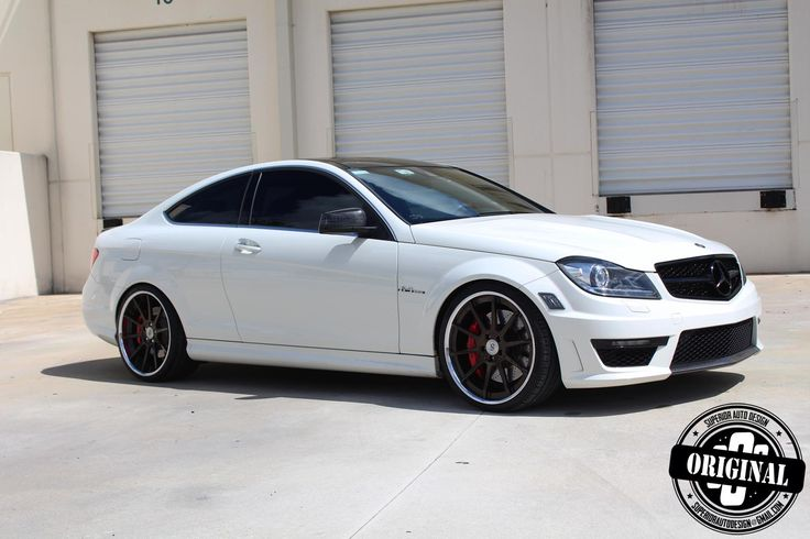 cocaine white c63 amg coupe with forged strasse wheels your source for pinterest pictures