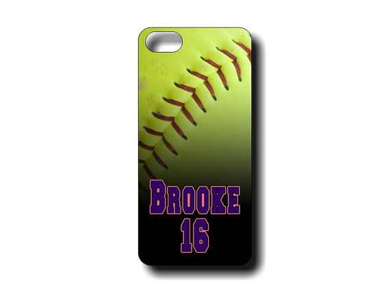 Personalized Softball iphone 4/4s and iphone 5/5s case - Softball iphone case on Etsy, $15.95