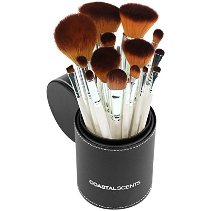 Coastal Scents 16 Piece Pearl Brush Set in Travel Cup (BR-SET-022) >>> Learn more by visiting the image link. (This is an affiliate link and I receive a commission for the sales)