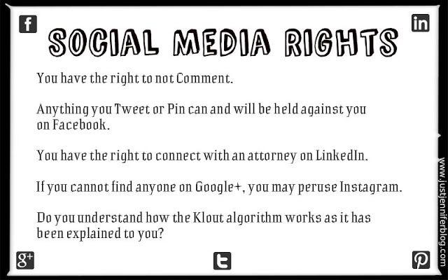 Your Social Media Rights (modeled after Miranda Rights)