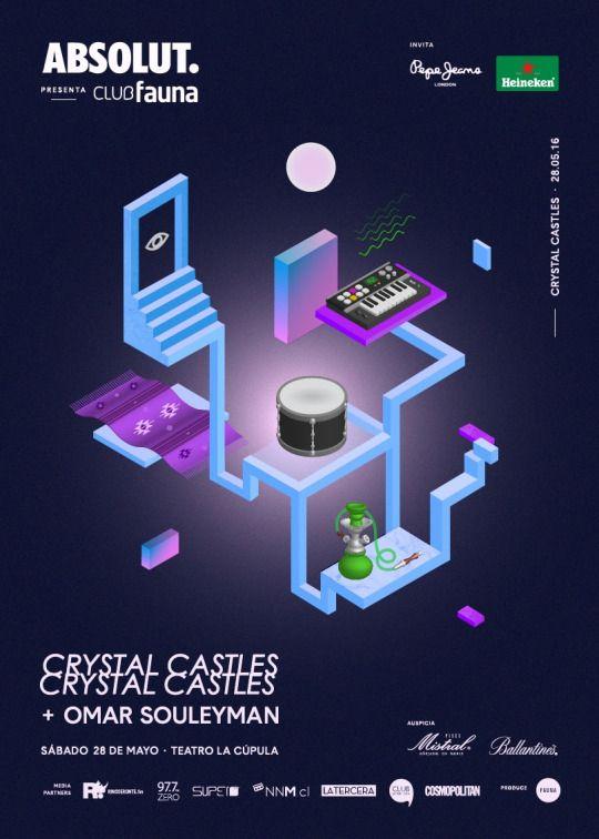 [PartyMonster.cl] Crystal Castles y Omar Souleyman en Club Fauna. Sab.28.May. Teatro La Cupula