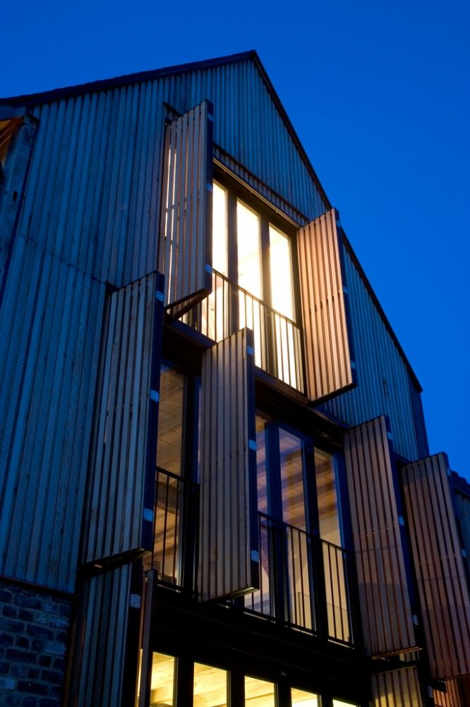 corrugated iron and brick by Lensass Architects