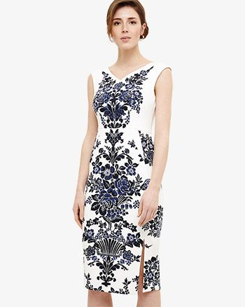 15acdedfb320 Phase Eight Whitney Placement Print Dress Blue