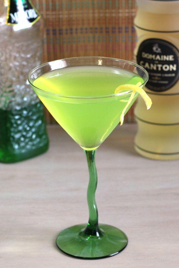 Honeydrew ginger martini