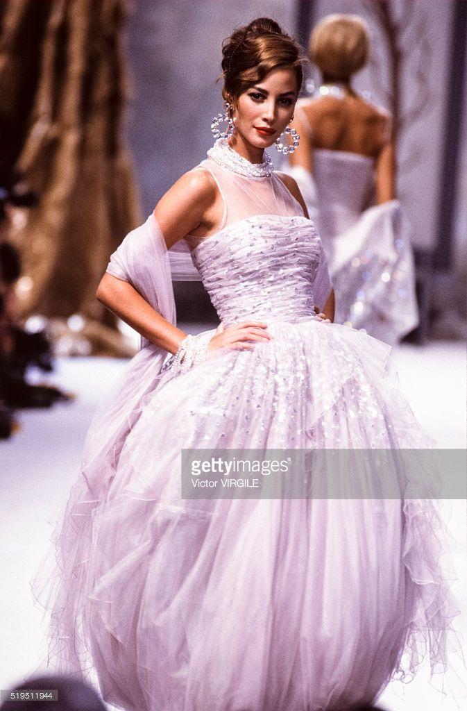 Christy Turlington walks the runway at the Chanel Haute ...