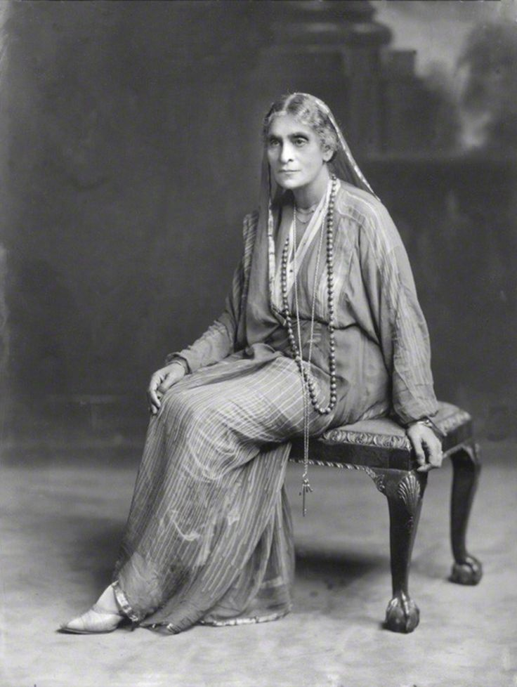 Cornelia Sorabji (1866-1954), barrister and social reformer, she was the first female graduate from Bombay University, and in 1889 became the first woman to read law at Oxford University, and also the first Indian national to study at any British university. Her publications included India Calling (1934), India Recalled (1936) and helped edit Queen Mary's Book for India (1943)