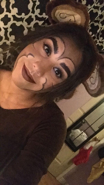 Monkey makeup :)