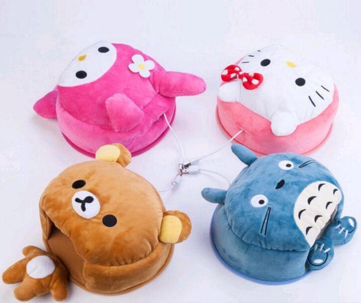 Hello Kitty Cartoon USB Warmer Mouse Pad Wrist Support Comfort Hand Warm Winter cojin de raton tapete de rato Totoro Mouse Pad