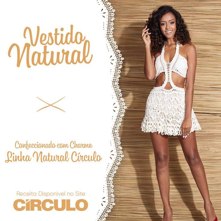Nossa família de Fios Naturais já chegou ao mercado arrasando. Com o Charme Natural, você faz esse vestido maravilhoso, perfeito para dias de verão. Clique na foto e confira a receita completa