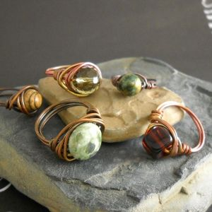 wire-wrapped rings. Love this tutorial! So much easier that how I was doing it :)