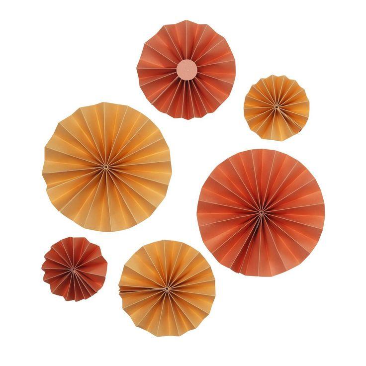 Presentdekor sol 6 korall/oran