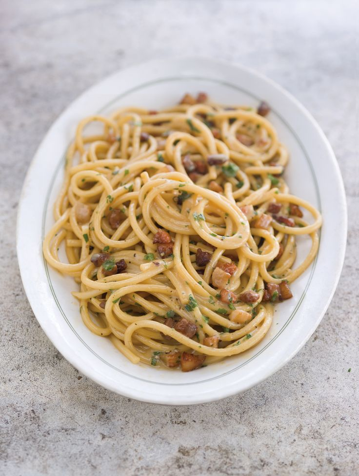 Bucatini alla Carbonara ~ This recipe sticks to the authentic way of making a carbonara sauce, which, unlike many popular variations, includes no cream or wine.