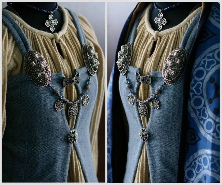 Intriguing having  the apron dress closed with two  clasps. Viking (From Savelyeva Ekaterina, Facebook)
