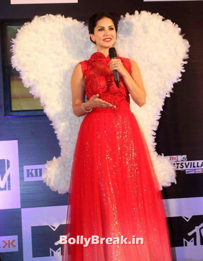 Sunny Leone at MTV Splitsvilla Photos - Press Conference - Sunny Leone in Red dress  at MTV Splitsvilla Press Conference , #sunnyleone #mtvsplitsvilla