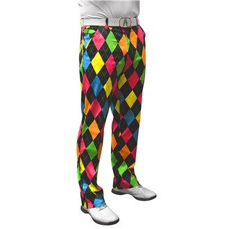 Royal And Awesome Mens Disco Diamonds Trouser: These Royal & Awesome Disco Diamond golf trousers are perfect for… #GolfApparel #GolfShoes