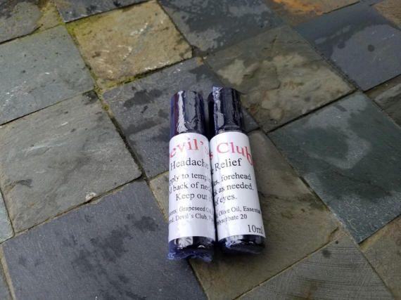 $12.50 - Devil's Club All Natural Headache Relief Essential Oil