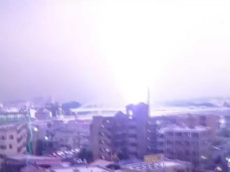 Lightning Bolt Strikes The Hell Out Of Japanese Commuter Train