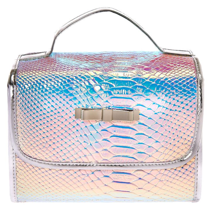 Claire's Holographic Roll Travel Makeup Bag Makeup bags