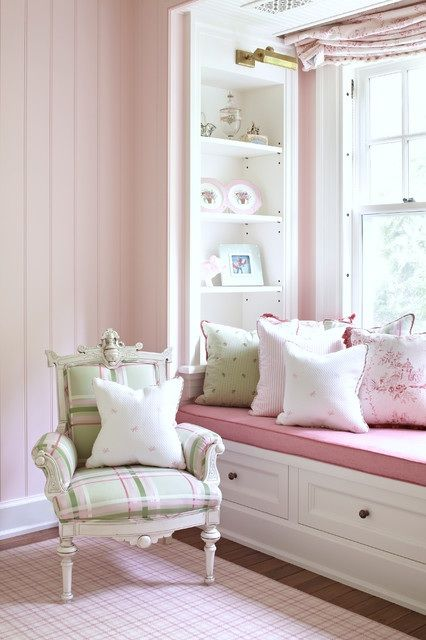 PRO Tom Stringer Design Partners	 hi kmway, thank you for your interest in this room! The wall paint is Sherwin Williams SW 6595 Armour Pink.