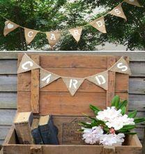 arpillera de yute de tarjetas rsticos boda de poca bandera de la boda apoyo de