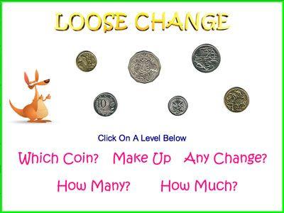 australian money game loose change crackerjack education maths activities pinterest. Black Bedroom Furniture Sets. Home Design Ideas