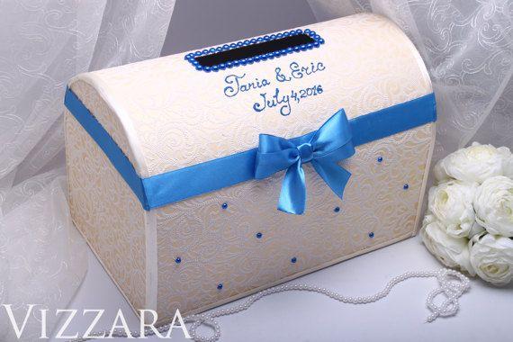 Wedding card box navy blue wedding card holder box for от VIZZARA