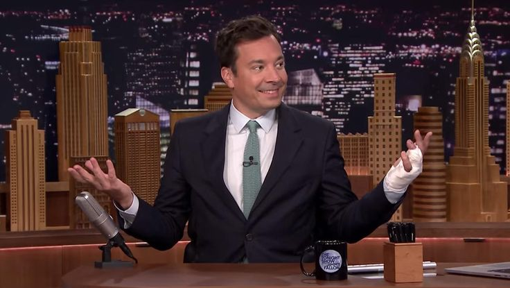 "Late-show host details accident on his first ""Tonight Show"" episode since hand injury"