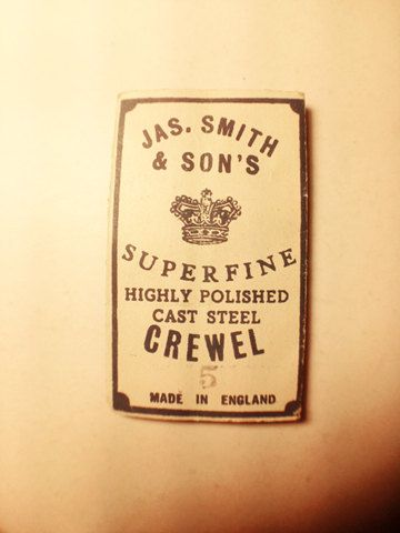 Vintage Jas. Smith & Son's Superfine Sewing Needles. NOS. Fashion Collectible Advertising Typography