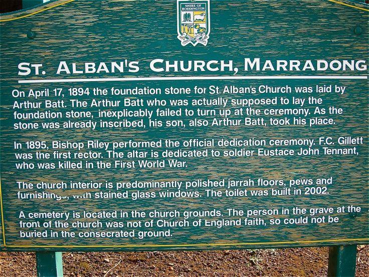 BA2741/101: St. Alban's Church, Marradong interpretive sign, 6 June 2011 http://purl.slwa.wa.gov.au/slwa_b4625297_5
