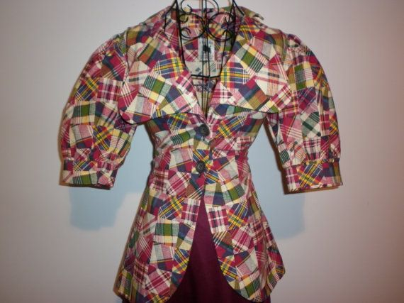1970's Techo Colour Patch Work Pattern Style Blazer by ParrotMoon
