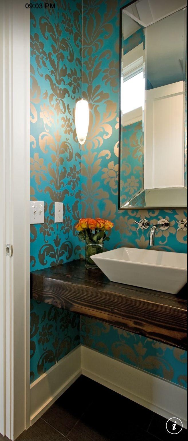 Papel de parede // banheiro // lavabo