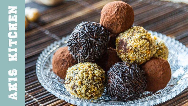Chocolate Truffles   Akis Kitchen