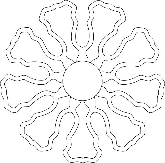 Here's a Pretty Flower Image for You to Download and Color
