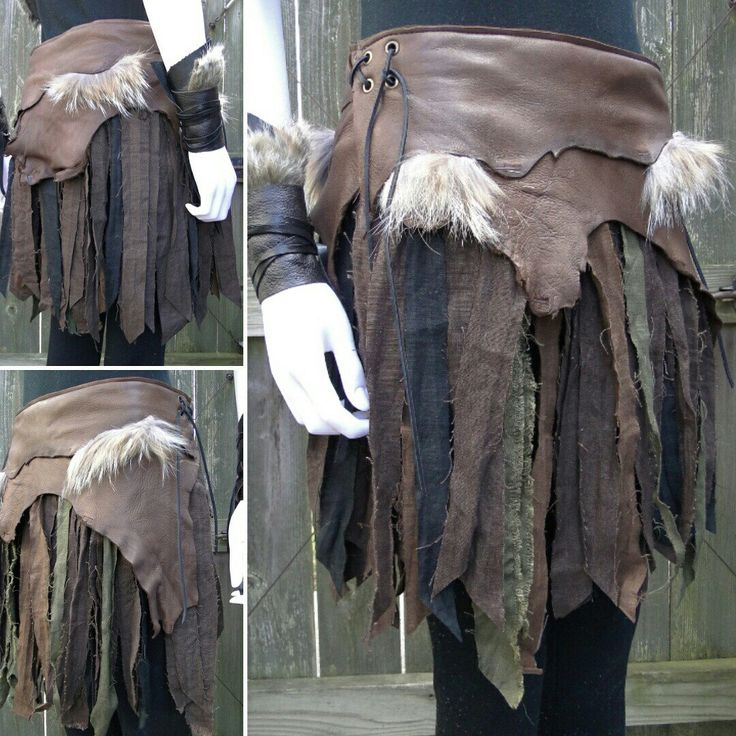 Battle skirt, war skirt, viking warrior leather & linen made by folkofthewood on etsy