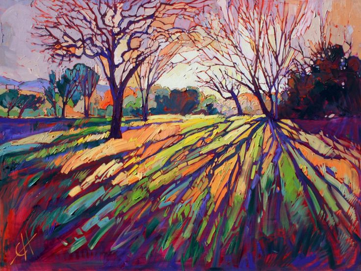 Paso Robles California wine country oil paintings by Erin Hanson.  Beautiful colors.