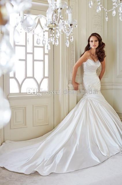 Best Fitted Wedding Dresses Satin Taffeta Dupioni Images On