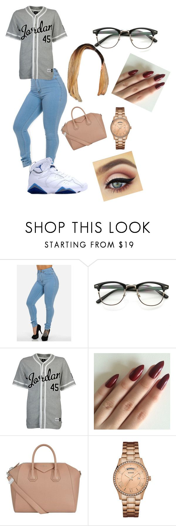 """""""   pop style // drake   🔫"""" by mami-taylor ❤ liked on Polyvore featuring NIKE, Givenchy and GUESS"""