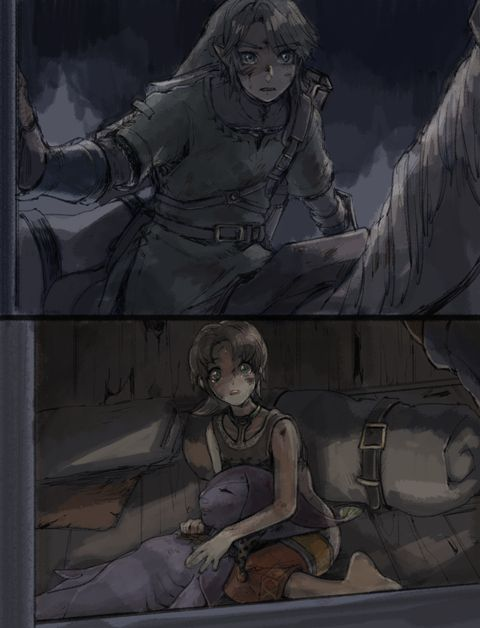 The Legend of Zelda: Twilight Princess. Is this an actual scene that happens? Or is it just fan made thing? I've been working through the HD version of the game but I haven't finished yet.