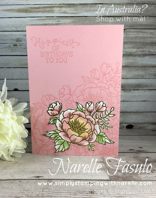 Birthday Blooms - Narelle Fasulo - Simply Stamping with Narelle - available here - http://www3.stampinup.com/ECWeb/ProductDetails.aspx?productID=140658&dbwsdemoid=4008228