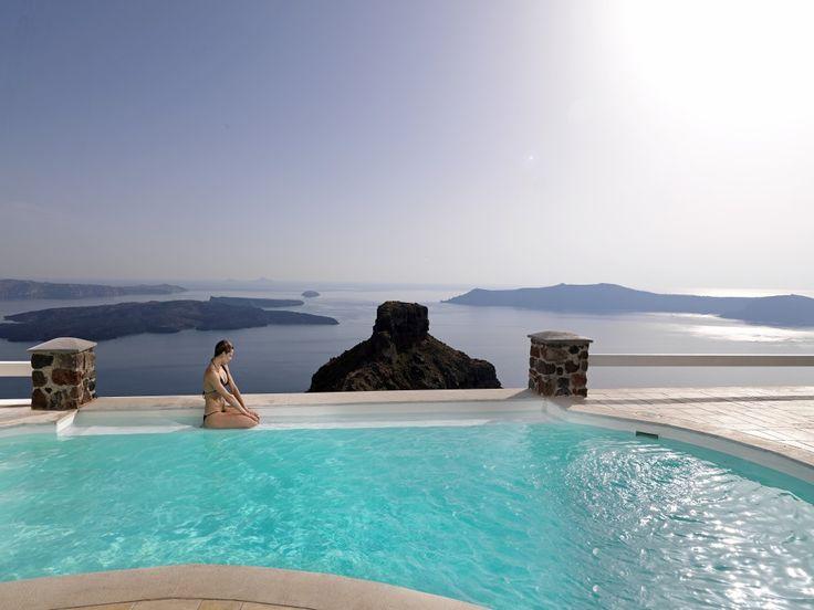 The perfect balance! #Santorini #caldera #Aegean More at tholosresort.gr