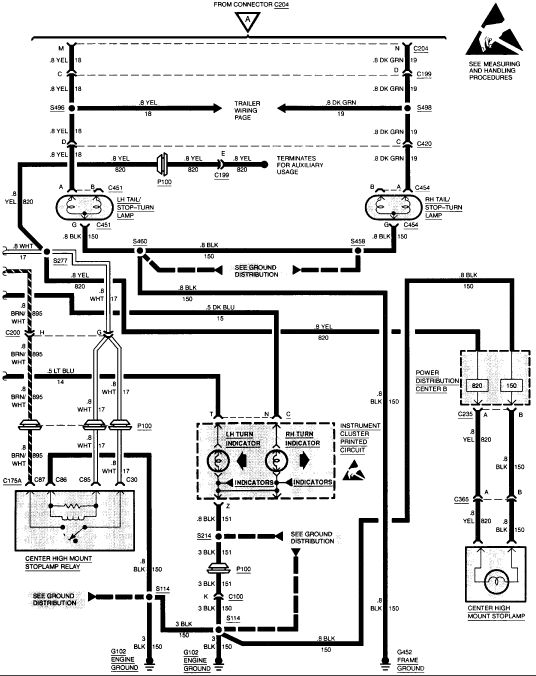 2002 gmc sonoma rear tail light wiring diagram wiring