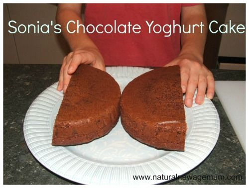 Chocolate yogurt cake- added zucchini and cut sugar.  Used blueberry yogurt.  Delicious!