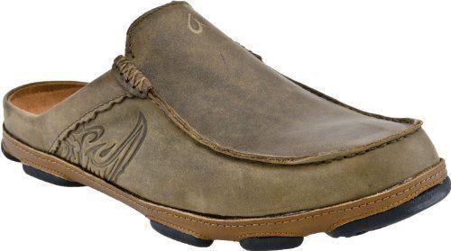 "Olukai Kono II Clog - Men's OluKai. $99.00. 1"". 10172 2733. leather. Leather or pig suede upper. Suede. Rubber outsole"