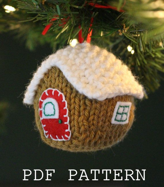 Gingerbread House ornament knitting pattern on Etsy New ...
