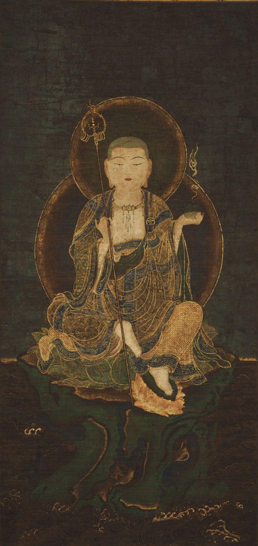 Seated Jizo - (bodhisvitta ksitigarbha) Japanese. Edo. Philadelphia Museum of Art