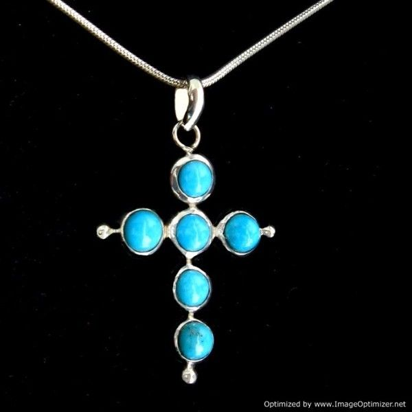 Sterling Silver Turquoise Pendant from Lotus Moon - Auckland - List Sell Trade