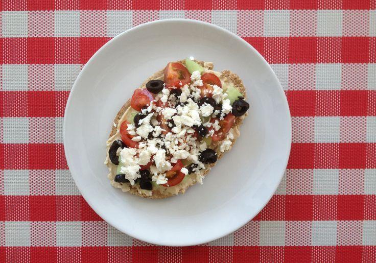 No bake Griekse pizza. Recept van Suzanne -> dus lukt altijd.