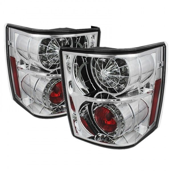 Land Rover Range Rover Chrome/Clear LED Taillights for SUV/Truck/Crossover | Pair | Fits 2003, 2004, 2005.